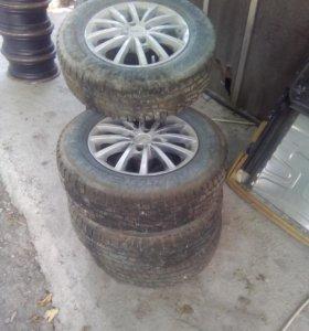 Шины зимние+диски литые