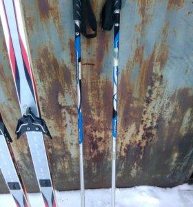 Лыжи fischer палки лыжные ботинки