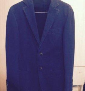Синий мужской casual пиджак boggi milano