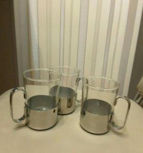 Подарок для любимого стаканы с подстаканниками
