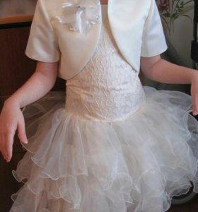 Платье,болерошка и перчатки