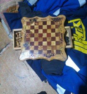 шахматы из оливкого дерева
