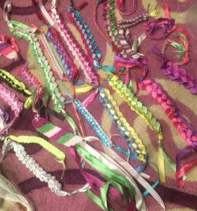 мулине, ленты, браслеты
