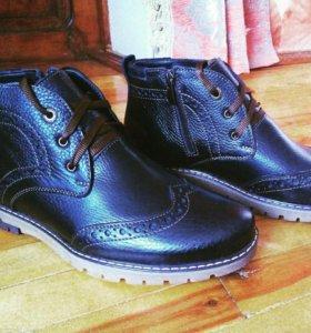 Хорошего качество кожа и работы, зимняя обув