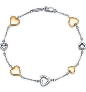 Браслет Tiffany & Co Mini heart with gold [0165]