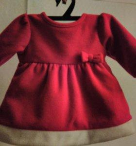 Платье флисовое от 0 до 3 мес.