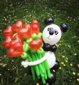 Панда из воздушных шаров