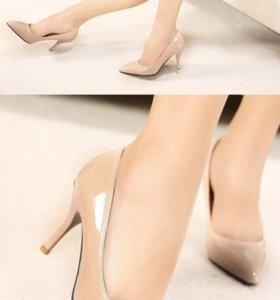 Новые туфли цвет пудра
