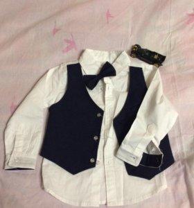 Нарядная рубашка на мальчика 3-4года