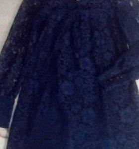 Платье ,очень красивое ,темно синее