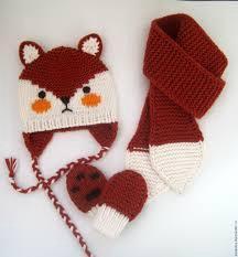 Детские комплекты шапка+ шарф