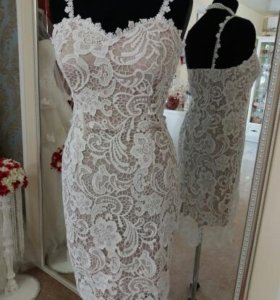 Свадебное платье, новое кружевное, 42,44,46,48