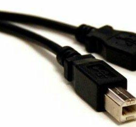 (1.8м) USB 2.0 провод для принтера и сканера
