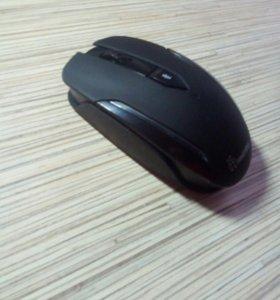Мышка игровая, беспроводная, синяя подсветка