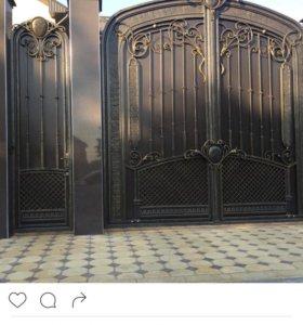 Ворота кованые новые