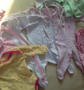 Вещи для новорождённой девочки