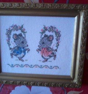 Влюбленные Мышки ручной работы