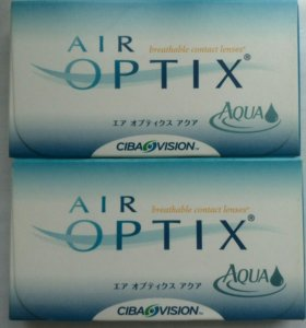 Air optix aqua - 4,75, линзы
