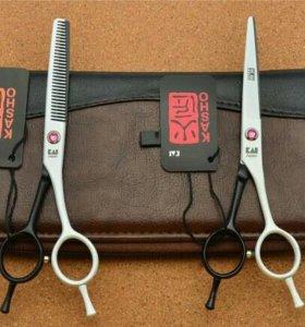 Парикмахерские ножницы Kasho, цвет черно-белый 5,5