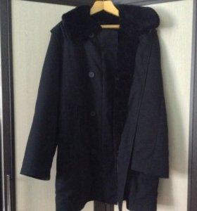 Пальто с натуральным мутоном