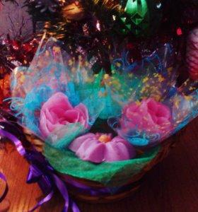 Букет из мыльных цветов