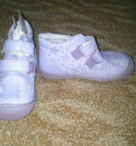 Туфли кожаные новые для девочки .