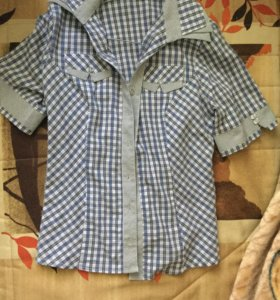Женская клетчатая рубашка 44-46