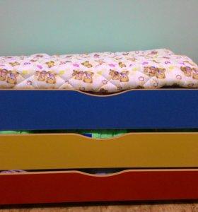 Кроватки-матрешки 3-х ярусные