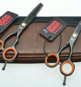 Парикмахерские ножницы Kasho, цвет черный, р. 5,5