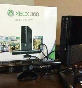 Xbox 360 500GB + KINECT+ ГЕЙМПАД + ИГРЫ