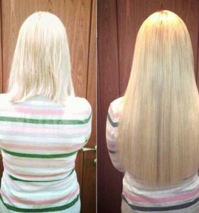 Натуральные волосы на капсулах и заколках