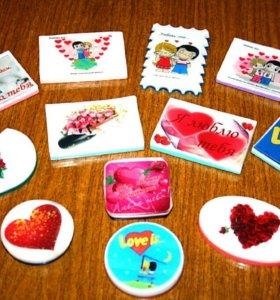 Мыльные открытки ко дню Святого Валентина