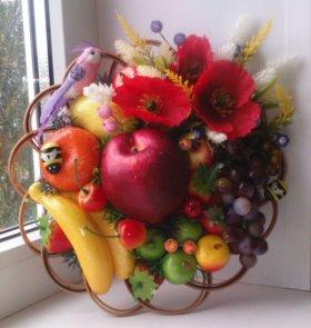 Панно фруктово-цветочные на стену