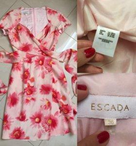 Шикарное платье Escada оригинал шелк