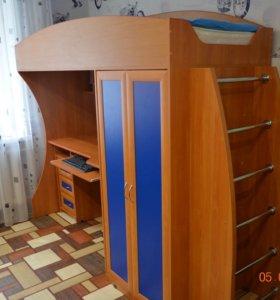 Стол,кровать,шкаф ( 3 в 1)+ортопед.матрас