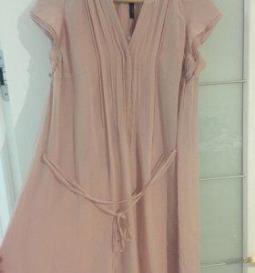 Новое женское платье розовое шифон 46-48-50-52