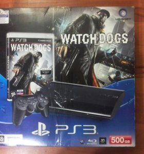 Play Station 3 Super Slim 500GB + WATCH DOGS