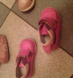 Детская обувь на девочку кожа