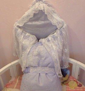 Конверт одеяло на выписку для мальчика
