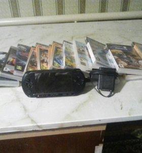 PSP   с дисками    ДИСКИ ОРИГИНАЛ .