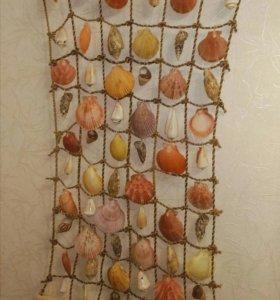 Декор пано картина сувенир украшение из ракушек