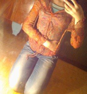 Прозрачная женская кофта