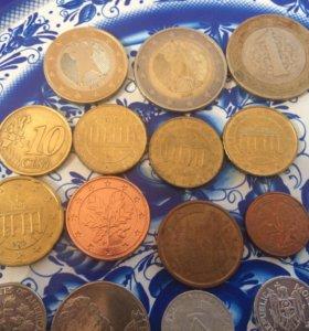 Евроценты+ разная мелочь