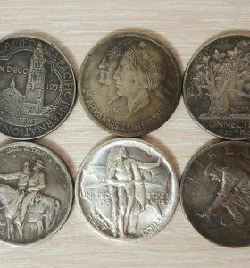 Монеты - Пол Доллара США