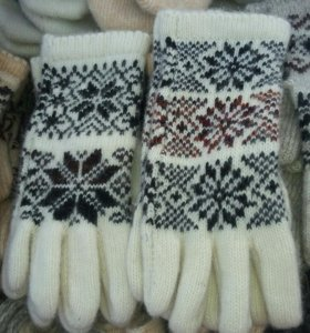 Перчатки варежки шерсть