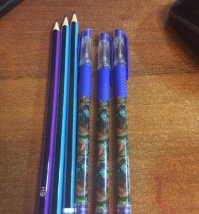 Набор 3 ручки 3 карандаша