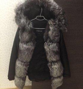 куртка зимняя чернобурка