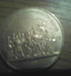 Продаю 2 калекцыоные монеты 1987г