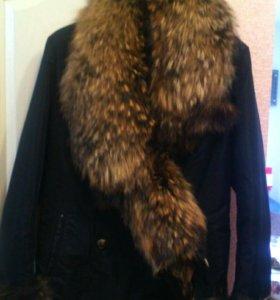 Зимняя куртка. Воротник из натурального меха