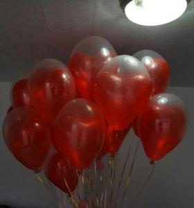 Геливые шары, композиции из шаров .